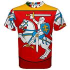 New Lithuania Coat Of Arms Flag Sublimated Men's Sport Mesh T-Shirt size XS-3XL