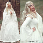 Renaissance White Bell Sleeve Wedding Dresses Celtic Medieval Bride Gowns Custom
