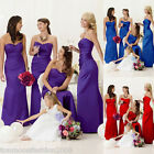 Clearance Dresses Satin Wedding Evening Cocktail Party Ball Gown Prom Bridesmaid