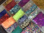 Holo Hex Glitter 3 g 2mm 3mm 7mm Super Chunky Nail Art Scrap Craft lot Metal