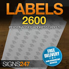 2600no. PRINTED ADDRESS LABELS Self Adhesive Return Address PERSONALISED LABELS