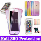 Shockproof 360 Full Silicone Protective Clear Case Cover For New Apple iPhone