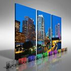 San Francisco Skyscapers Treble Canvas Print Large Picture Wall Art