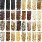 """22"""" 7pcs/set Clip In Long Wavy Curly Full Head Synthetic Fibre Hair Extensions"""