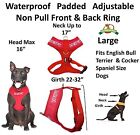DO NOT PET Red Pet Dog Vest Harness Non Pull Front Back Clip Padded Waterproof