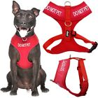 Внешний вид - DO NOT PET Red Pet Dog Vest Harness Non Pull Front Back Clip Padded Waterproof