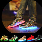 Luminous Shoes LED Light Lace Up Sportswear High Top Casual Sneaker Unisex