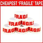 FRAGILE PRINTED STRONG PARCEL PACKING TAPE MULTILISTING 48MM  66M BOX 6 12 24 36