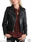 New Women's Leather Motorcycle Biker Jacket 100% Pure Soft Lambskin Jacket WJ048