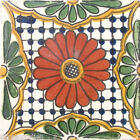 #C023 TILE MEXICAN HAND MADE HAND PAINTED TALAVERA TILES WALL OR FLOOR USE DECOR