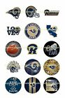 "LOS ANGELES RAMS 1"" CIRCLES  BOTTLE CAP IMAGES. $2.45-$5.50 ***FREE SHIPPING*** $4.45 USD on eBay"