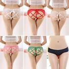 3-Pack Women Hollowed-out Stretchy Crotchless Panties Knickers Thong G-string