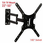 "22""-50"" Tilt Full Motion Swivel TV Wall Mount Bracket for LCD LED Plasma Flat"