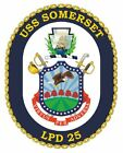 Uss Somerset Sticker Military Armed Forces Navy Decal M197