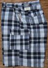 GREAT NORTHWEST BIG MENS PLAID SOFT COOL COTTON TWILL CARGO SHORTS LIST $44