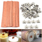 40Pcs Wooden Candle Wicks Core Supplies Multi Size Sustainer Making Party New