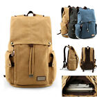 Men's Durable Canvas Backpack Rucksack Daypack Hiking Tralve Shool bag Book bag