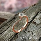 14k Rose Gold Engagement Ring 1.33 CT Real Diamond VVS/F-G Size 6.5 Enhanced