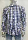 Men's Rufus Plaid Navy/White/Lavander Long Sleeve Button Down Shirt