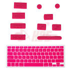 Silicone Anti Dust Port Plugs + Keyboard Skin Cover for Retina Macbook Pro 13 15