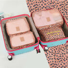New 6 Pcs Waterproof Clothes Packing Travel Luggage  Storage Bags Set Organizer
