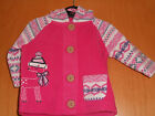 Baby Girls Hooded Jacket, Button up Fleece,So Cute Reindeer Picture!So Pretty