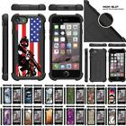 """For Apple iPhone 7 Plus Case (5.5"""") Dual Layer Bumper Defender Stand Cover"""
