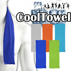 2 PCS Ice Cooling Cool Towel Cycling Running Gym Golf Sport Cold SOAK IN WATER image