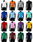 New Mens Cotton 100% V-Neck T-Shirts Tops ALL Colours.(Sz) XS / S / M / L / XL
