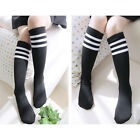 Kids Sports Stripes Socks Cheerleader Knee High Tube Socks Boys&Girls Stockings