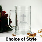 Godmother Engraved Glass Beer Stein Gift - Add a Name & Message