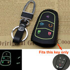 Car Smart Remote Key Case 5 Bottons Leather Cover Keyfob Holder For Cadillac