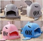 New Cute 3colors Shark Shape Pet Dog Cat House Tent Sofa Bed Kennel Size S,M