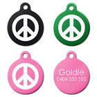 Fun Cool Style Symbol Dog Pet Puppy ID Tag Personalised Engraved Round Aluminium