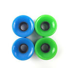 A Set of 4 (4 pcs) Pro skateboard wheels 60mm 78A Blank Multi Color