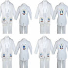 Boy Baby Kids Baptism White Tail Tuxedo Embroidery Mary Maria Stole Sash Small-7