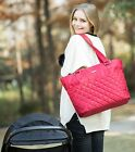 Bellotte Classic Tote Satchel Mommy bag Baby Diaper Bag(Red or Black)