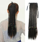 50cm Clip In Women Long Ribbon Braided Plait Ponytail Synthetic Hair Extensions