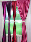 """Pink Purple & Red 144"""" x 100""""  Velvet Curtains Home Theater Stage Curtain Panel"""