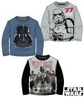 Official Star Wars Long Sleeve T-Shirt 3 Style Darth Vader Ages 6 - 13 Years.