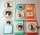 Girl  Horses Notebook Set Journal Diary Notepad Letter Horse Pencil 2 rubbers