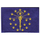 INDIANA FLAG EMBROIDERED PATCH