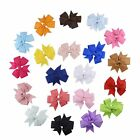 Baby/Girls Handmade 3.1 inch Butterfly Hair Bow Aligator Clip Ribbon 20 COLOURS*