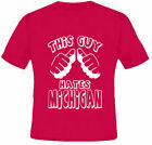 This Guy Hates Michigan College Football Red T Shirt