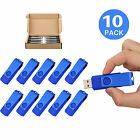 LOT 10 1G-16G USB 2.0 Flash Drive Non-Slip Swivel Flash Memory Stick Thumb Drive