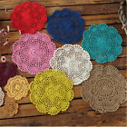 Внешний вид - Handmade Crocheted Placemat Table Mat Cotton Doily Cup Dish Kitchen Round 20cm