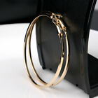 Big Round Women Hoop Earrings Pendant Charm Silver Gold Jewelry Gift  Wedding