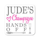 Personalised Champagne Drinks Wooden Gift Coaster Mat Present
