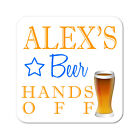 Personalised Beer Drinks Wooden Gift Coaster Mat Present