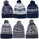 Soulstar Knitted Bobble Patterned Beanie  Mens, Womens Size